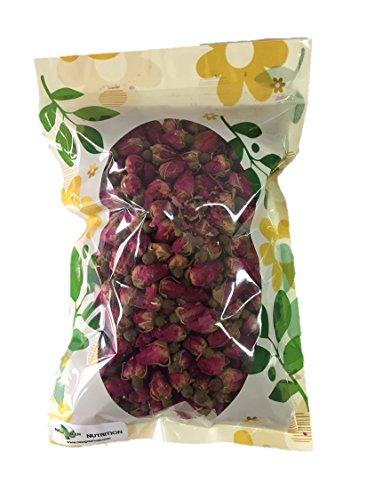 HerbsGreen Premium Dried Red Rose Buds, 100% Natural, Food Grade Herbal Tea (4 oz. Bag) ()