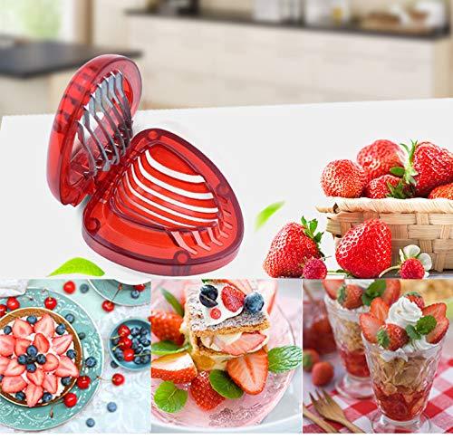 Strawberry Slicer, Kitchen Cutter Gadgets Kitchen Tool Mini Slice, Stainless Steel Blade, Blade Craft Fruit Tools