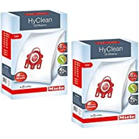 Miele HyClean 3D Efficiency Dust, Type FJM, 8 Bags & 4 Filters, Red