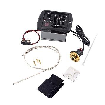 SUPVOX Sistema de afinador Ecualizador de 3 Bandas Ecualizador de Guitarra eléctrica acústica Afinador con sintonizador y Control de Volumen para Guitarras ...