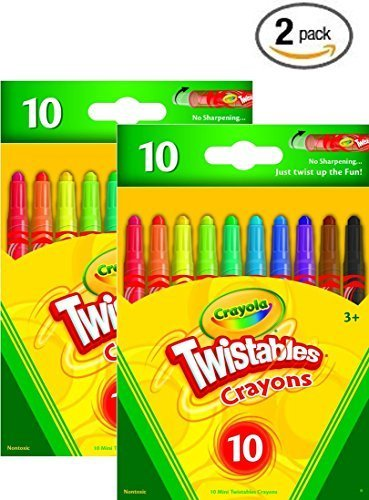 (Crayola 52-9715 Mini Twistables Crayons 10 PACK (2))