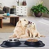 Newstarxy Stainless Steel Dog Bowls, 106oz Large
