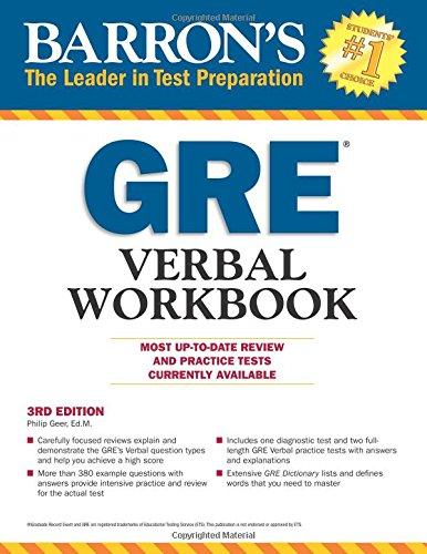 Barron's GRE Verbal Workbook, 3rd Edition