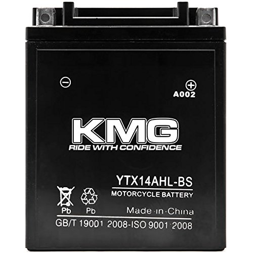 KMG YTX14AHL-BS Battery For Suzuki 650 LS650 Savage, S40 1986-2012 Sealed Maintenace Free 12V Battery High Performance SMF OEM Replacement Powersport Motorcycle ATV Snowmobile Watercraft