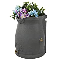 Good Ideas RWURN50-LIG Rain Wizard Rain Barrel Urn, 50 gallon, Light Granite