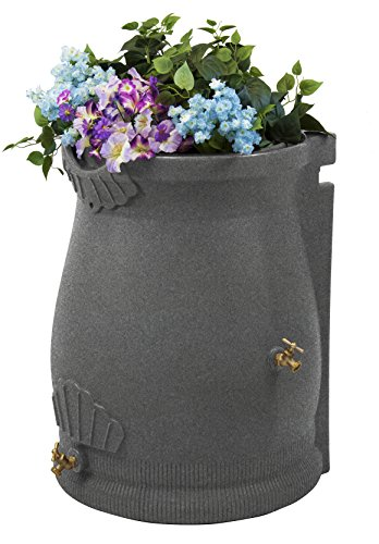 Rain Urn (Good Ideas RWURN50-LIG Rain Wizard Rain Barrel Urn, 50 gallon, Light Granite)