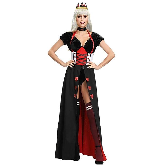Rosso adulto donna REGINA Costume Festa Di Pasqua Vestito Costume Cuori Halloween