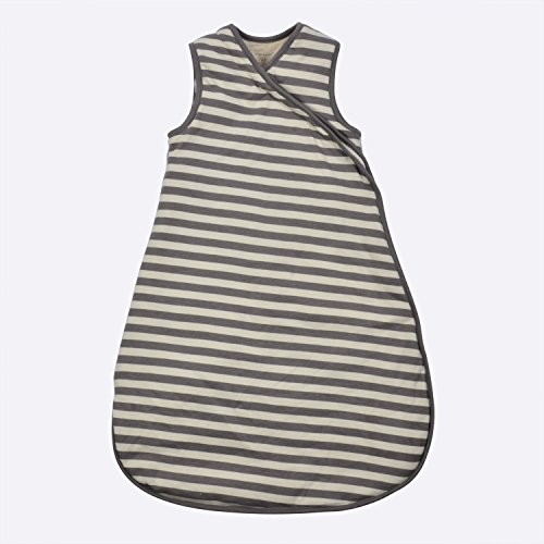 DorDor & GorGor G.O.T.S. Organic Cotton Unisex Baby Sleeping Bag, All Natural Dye-Free (18M, Gray Stripe)
