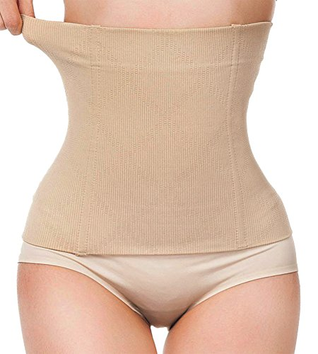 Womens No Closure Waist Corset Cincher Boned Tummy Control Waist Girdle Seamless (M (2-5 day delivery), - Day Delivery 2