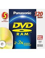 Panasonic 4.7gb Dvd-Ram W/O Cartrge - 5 Pk