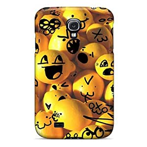 Premium Protection Lemon Smilies Case Cover For Galaxy S4- Retail Packaging