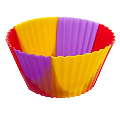 Godathe Premium Grade Silicone Baking Cups Cupcake Liners Molds Muffin Liners Molds Sets Yellow: Clothing