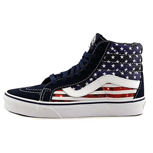 Vans Sk8-Hi Checkerboard, Unisex - Erwachsene Sportschuhe -Skateboarding (Americana) Dress Blues/True White