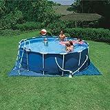 Intex Round Metal Frame Swimming Pool - 16 Feet x 48 Inches - 1000gph Filter