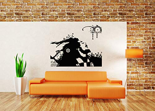 (Vinyl Sticker Bob Marley Portrait Face Rasta Love Dreadlocks Poster Reggae King Jamaican Music Mural Decal Wall Art Decor SA2487)