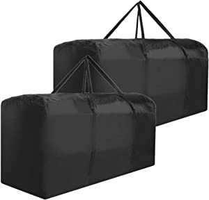 Patio Cushion Storage Bag Waterproof Extra Large Protective Zippered Outdoor Cushion Storage Bags Furniture Storage Bag with Handles, 68