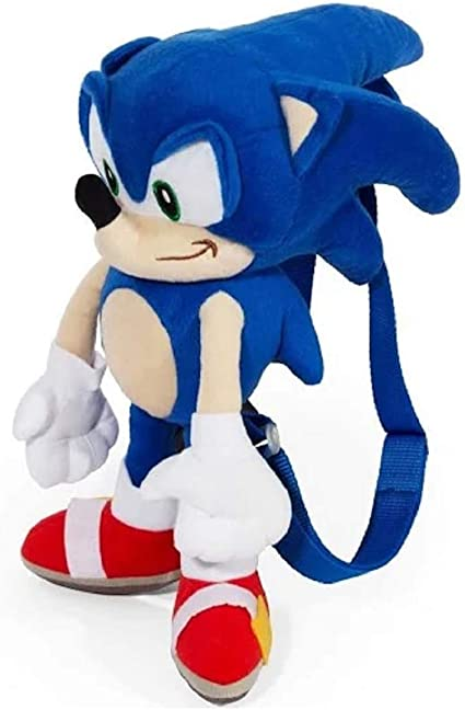 Amazon Com Sonic The Hedgehog Large Size Kids Plush Toy With Secret Zipper Pocket 17in Toys Games