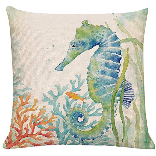LTEXT Ocean Beach Outdoor Throw Pillow Covers Turtle