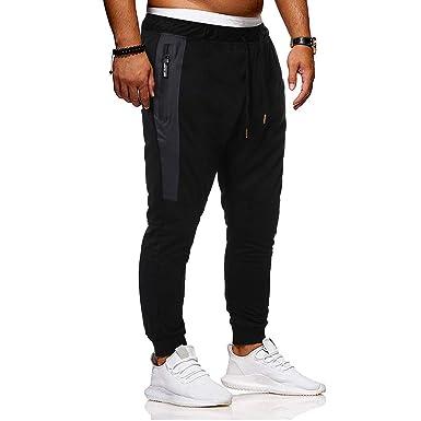 LANSKIRT_Pantalones de Chandal Hombre Pantalones Deporte con ...
