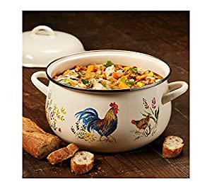 Paula DeenEnamel on Steel 12-Quart Covered Stockpot