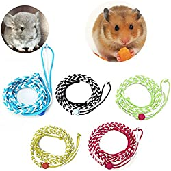 YingNeng Adjustable Ferret Hamster Harness Leash Pet Mouse Baby Rabbit Squirrel Walking Rope