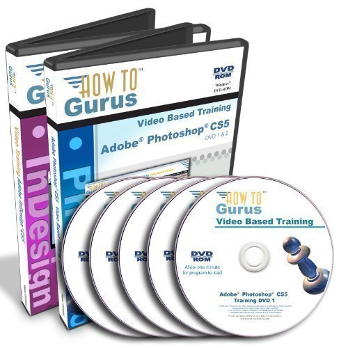 Adobe Photoshop CS5 Tutorial and Adobe InDesign CS5 Training on 5 DVDs (Indesign Training)