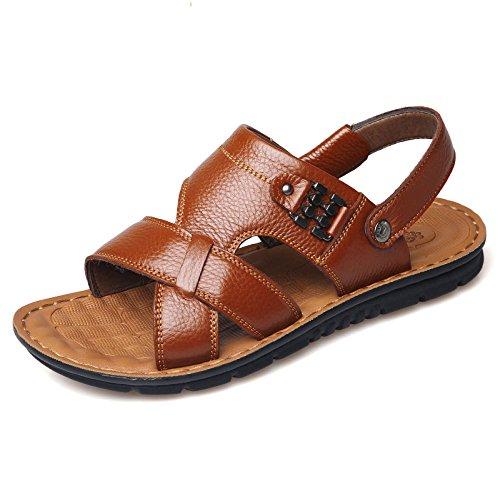 Sandali Summer Pelle Beach Khaki Piscina Pantofole Morbida Peep Bagno Toe Uomo Da Da Antiscivolo Bagno Scarpe Da In Casual Taglia YwvwEXxHq