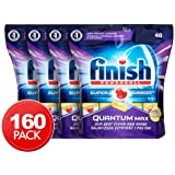 Powerball Finish Dishwasher Tablets Quantum Max Supercharged tablets - Lemon Scented detergent (160)