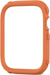 RhinoShield CrashGuard NX Extra Rim [ONLY] Compatible with Apple Watch SE [44mm] & Series 6/5 / 4 [44mm] & Series 3/2 / 1 [42mm] | Additional Accessory for RhinoShield Apple Watch Case - Orange