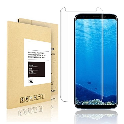 Samsung Galaxy S8 Plus Screen Protector, Linboll New Curved Tempered Glass Screen Protector [Bubble Free ][Scratch Resistant][Easy Installation] Film For for Samsung Galaxy S8 Plus 6.2 inch