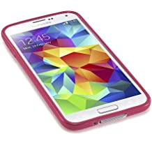 Caseiopeia SimplySafe Ultra Slim Case Premium Flexible TPU Cover for Galaxy S5 - Retail Packaging - Red