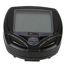 LeaningTech Wireless Bike Bicycle Cycling LCD Backlight Computer Speedometer Odometer Waterproof