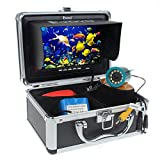 Eyoyo 7'' Color LCD HD 640480 Pixels HD 1000tvl Lens Waterproof 30m Cable Rechargeable Battery Fish Finder Underwater Fishing Camera with Carry Case Metal Heavier Lens