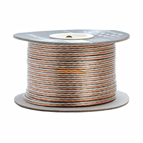 Cable Speaker Jacket Compact Clear - Cmple - 14AWG Clear Jacket Compact Speaker Wire Cable - 300ft