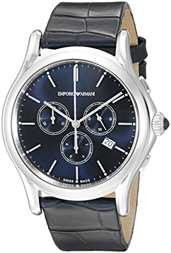 Emporio-Armani-Swiss-Made-Mens-ARS4010-Analog-Display-Swiss-Quartz-Blue-Watch