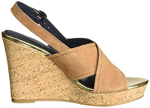 Tommy Hilfiger Women's E1285del 6b Wedge Heels Sandals Brown (Summer Cognac 929) 4rQMtn