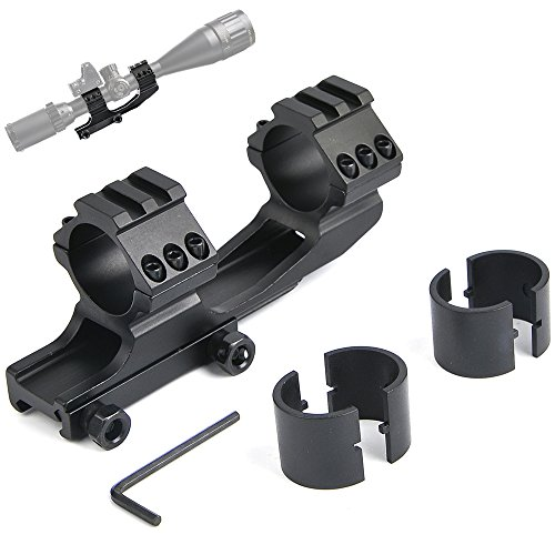 bestsight Rifle Scope Mount Rings 1 inch/ 30mm Cantilever for 20mm Picatinny Rail Dual Ring Adjustable Shooting.