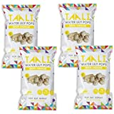 Taali White Cheddar Water Lily Pops (4-Pack) - Buttery Rich American Flavor | Protein-Rich Roasted Snack | Non GMO | 2.3 oz Multi-Serve Bags