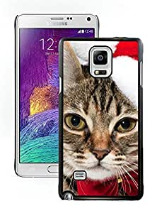 Customized Portfolio Christmas Cat Black Samsung Galaxy Note 4 Case 5