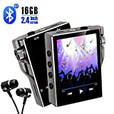 MP3 Player with Bluetooth 16GB FM Radio HiFi Music Player High Resolution Lossless Digital Audio Walkman with Video E-Book Digital Recording SD Card Slot up to 128GB