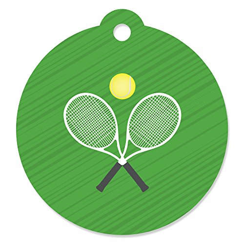 - You Got Served - Tennis - Baby Shower or Tennis Ball Birthday Party Favor Gift Tags (Set of 20)