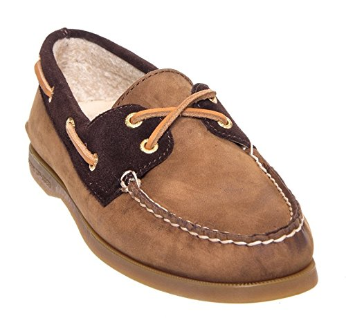 Sperry Top-Sider Women's A/O, Brown Buc Brown Teddy Leather Boat Shoe 7 M