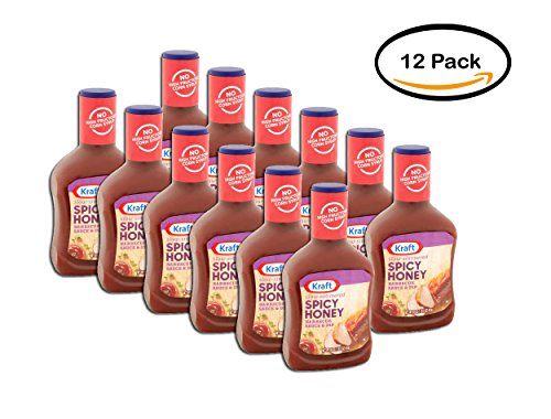 PACK OF 12 - Kraft Spicy Honey Barbecue Sauce, 18 oz