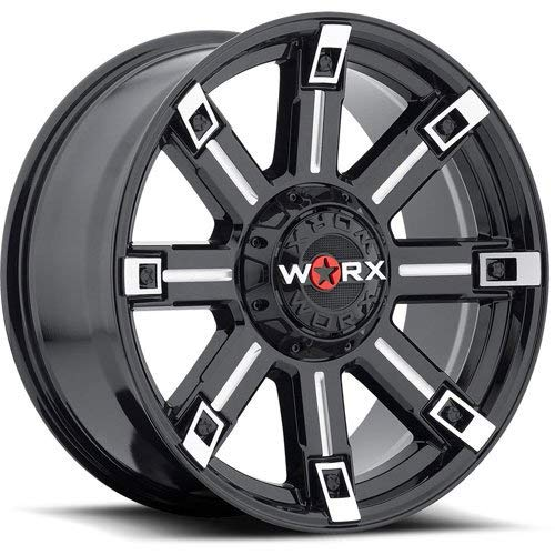 Worx 806BM Triton Matte Black Wheel with Painted (18 x 9. inches /5 x 4 inches, 12 mm Offset)