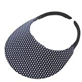 The No Headache Midsize Womens Sun Visor Hat (Navy Dot)