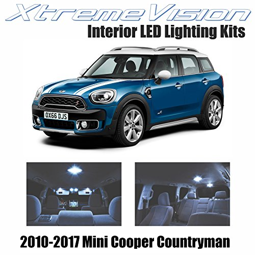 XtremeVision Mini Cooper Countryman 2010-2017 (8 Pieces) Cool White Premium Interior LED Kit Package + Installation Tool