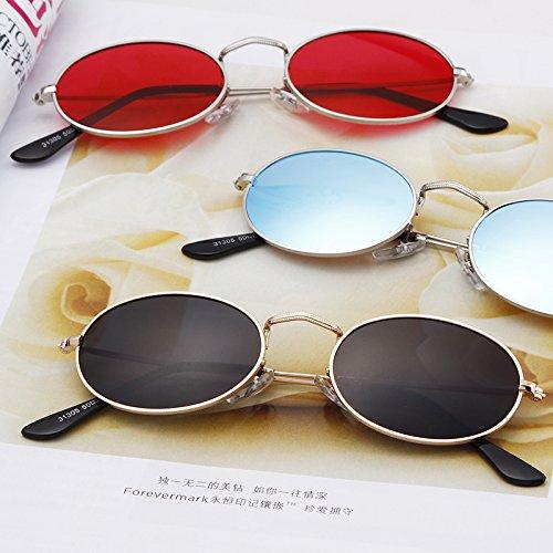 New De Pour lens Silver frame Soleil blue Adewu Femmes Lunettes OxZnX