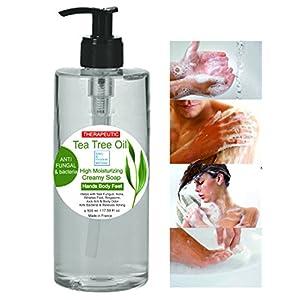 Gel desinfectante antibacteriano Jabón Ultra Hidratante Terapéutico con Aceite de Árbol de Té Purificante Anti hongos Anti Acné 500 ml - Gel de Baño - Gel de Ducha 12