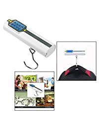 OFKP Portable Electronic Portable Digital Hanging Luggage Scale Electronic Gift Scale with Measure/50kg