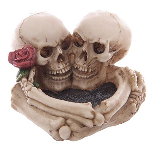 FACAIG Halloween Decoration skeleton skull ashtray skeleton man and Mrs embrace creative desktop cigarette butts put in place (1183 cm) Rollsnownow -